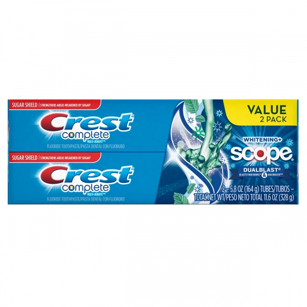 Crest Complete Whitening+ Scope 2x164g.