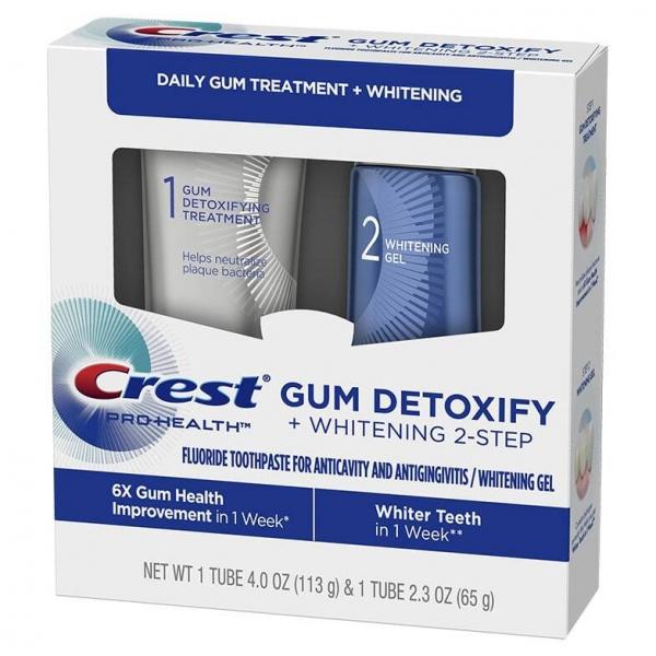 Crest Gum Detoxify + Whitening sistema