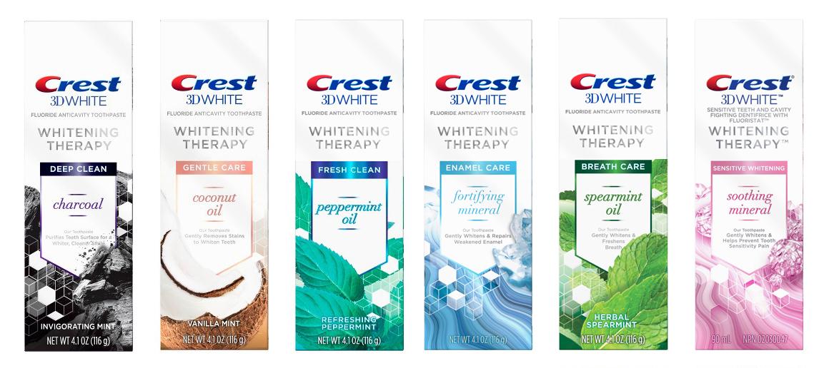 Crest Whitening therapy dantų pastos kolekcija